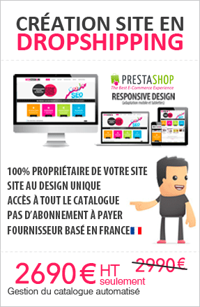 Creation site ecommerce en dropshipping
