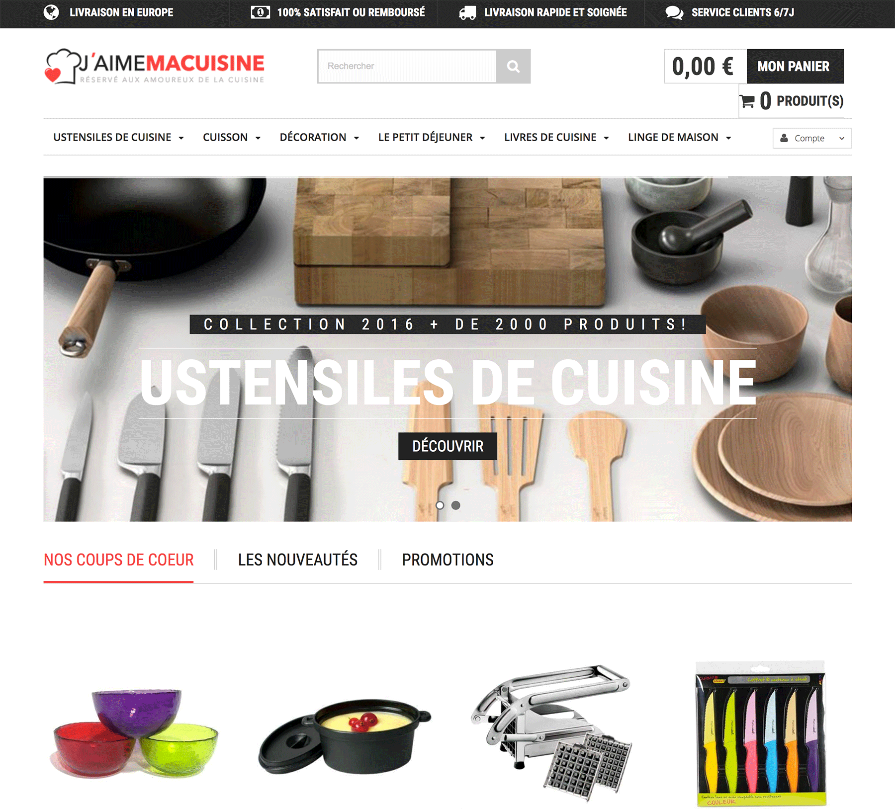 site e commerce accessoires de cuisine en dropshipping. Black Bedroom Furniture Sets. Home Design Ideas