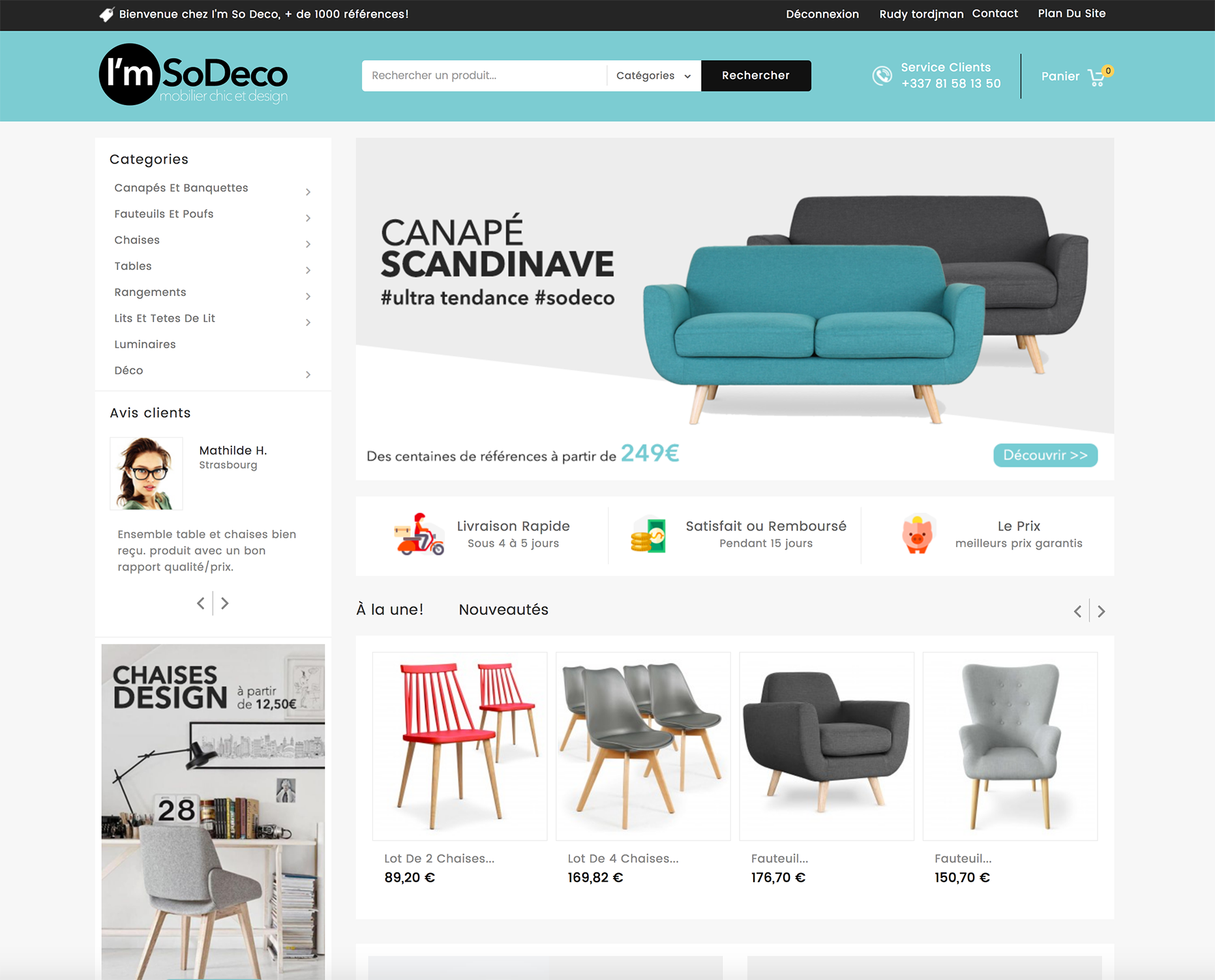 Achetez un site de mobilier design en dropshipping for Site de mobilier design
