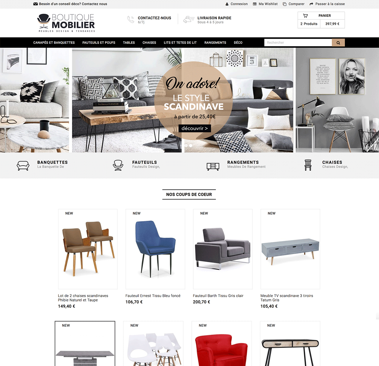 site e commerce avec fournisseur de meuble en dropshipping. Black Bedroom Furniture Sets. Home Design Ideas
