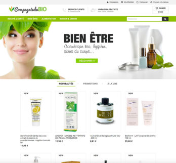 Site e-commerce produit bio en dropshipping