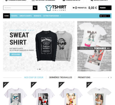 Site de tshirt en dropshipping