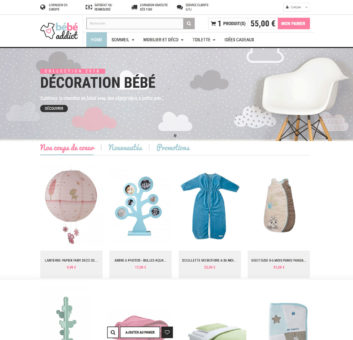 Site e-commerce clé en main d'article bébé en dropshipping