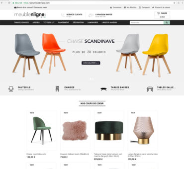 Vente de site e commerce dropshipping meuble