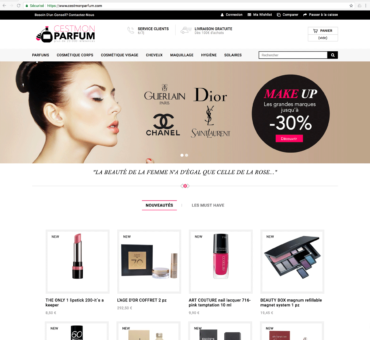 Site dropshipping parfum clé en main
