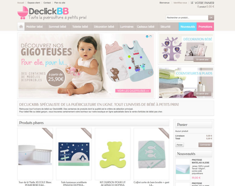 Création site dropshipping bebe