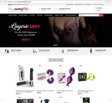 Vente site e commerce dropshipping sextoy