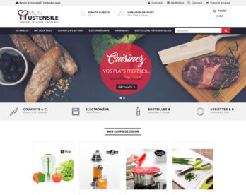 Site e-commerce ustensile de cuisine en dropshipping
