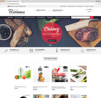 Vente site e commerce dropshipping ustensile cuisine