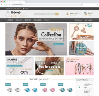 Vente de site e-commerce dropshipping bijoux