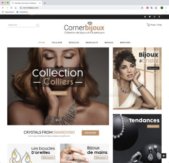 Vente de site e-commerce de bijoux en dropshipping