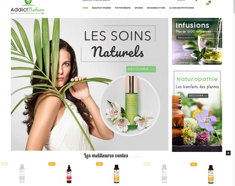 Vente de site e-commerce dropshipping produit bio